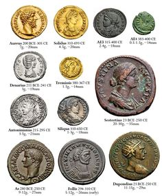 Rome,Bible-Coins of the Roman Empire. 🏛⚱️🏺In the Roman currency system, the dēnārius was a small silver coin first minted about 211 BC. Roman History, Art History, European History, American History, Ancient Rome, Ancient History, Ancient Roman Coins, Ancient Aliens, Roman Empire