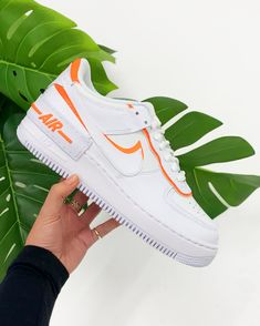 Apr 2020 - Find out all the latest information on the Nike Air Force 1 Shadow White Orange White Nike Shoes, Nike Air Shoes, Casual Sneakers, Sneakers Fashion, Jordan Sneakers, Summer Sneakers, Nike Sneakers, Fashion Shoes, Tenis Air Force