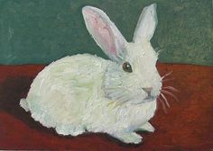 White Rabbit Painting Susan Spohn