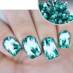Instagram media glitterfingersss - dioptase #nail #nails #nailart