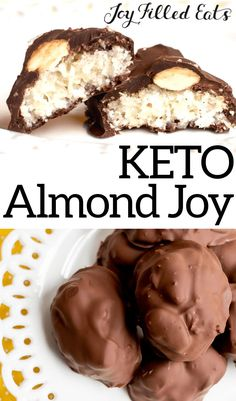 You won't miss this candy bar favorite any longer. With my healthy version of the classic Almond Joy Almond Joy, Almond Flour, Low Carb Sweets, Low Carb Desserts, Low Carb Recipes, Diet Desserts, Kid Recipes, Snacks Recipes, Steak Recipes