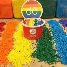 Love wins! #pride #history #sprinkles #rainbow #lovewins #cookiedough #parade #nyc