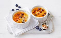 Tricky to perfect but undoubtedly worth the effort, this blueberry crème   brûlée is a culinary masterpiece