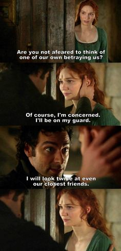 """I will look twice at even our closest Friends"" - Ross & Demelza #Poldark"