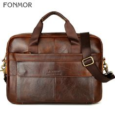 Todaies Men Leather Messenger Shoulder Bags Business Work Briefcase Laptop Bag Handbag 2018 Brown) - B Briefcase For Men, Leather Briefcase, Leather Crossbody, Leather Bag, Laptop Briefcase, Cow Leather, Laptop Bags, Business Briefcase, Cowhide Leather