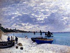 "Claude Monet ""La spiaggia a Sainte Adresse (1867)"