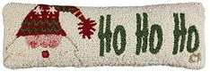 Soft Hand Hooked Ho Ho Ho Christmas Santa Pillow 8x24  100 Wool Beautiful Handmade Decorative Design By Chandler 4 Corners *** Find out more about the great product at the image link.