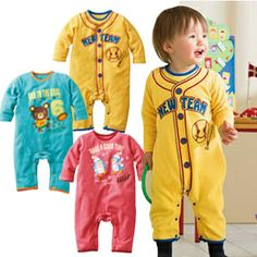 2013 Baby Girls Boys Rompers autumn winter new children's cloth infant cotton printed cartoon bear beer fawn baby cloth to climb $9.00
