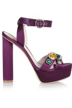 Sophia Webster | Amanda embellished satin sandals | NET-A-PORTER.COM