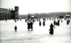 Skating on the frozen boating lake in Tynemouth in Photograph courtesy of the City of Newcastle upon Tyne. North Shields, Seaside Beach, Our Town, Newcastle, Coast, England, Boating, History, Frozen