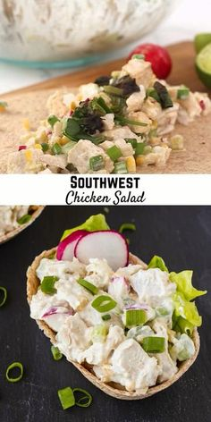 Mix up your lunch routine with this fun southwest chicken salad recipe. You can prep it on the weekend for a quick, easy, and incredibly filling lunch. Healthy Recipe Videos, Healthy Salad Recipes, Lunch Recipes, Mexican Food Recipes, Cooking Recipes, Salad Restaurants, Best Meal Prep, Southwest Chicken, Grilled Chicken Recipes