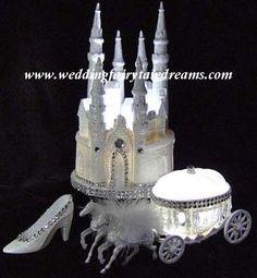 3 piece Set Cinderella Cake Toppers lit