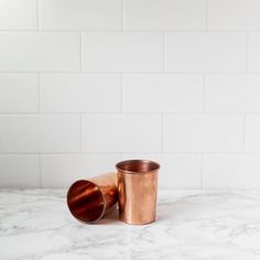 these pure copper cups are a dining staple. learn more about them via bio link.