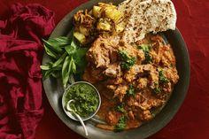 Slow-roasted Indian lamb