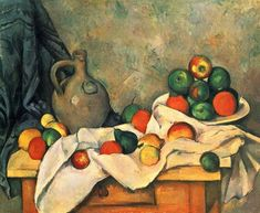 Oil on canvas; 59 × 72.4 cm. Paul Cézanne (US /seɪˈzæn/ or UK /sɨˈzæn/; French: [pɔl sezan]; 1839–1906) was a French artist and Post-Impressionist painter whose work laid the foundations of the transition from the 19th-century conception of artistic endeavour to a new and radically different world of art in the 20th century. Cézanne can be said to form the bridge between late 19th-century Impressionism and the early 20th century's new line of artistic enquiry, Cubi...