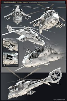 Area :: Tutorial :: Futuristic Russian Attack Helicopter (Mi-27R) - High & Low Poly