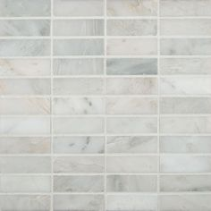 Found it at Wayfair - x Honed Marble Mosaic in Arabescato Carrara. For floor. Honed Marble, Marble Mosaic, Stone Mosaic, Mosaic Wall, Mosaic Tiles, Mosaics, Best Floor Tiles, Wall And Floor Tiles, Wall Tiles