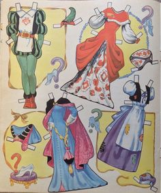 Cinderella Paper Dolls by Ethel Hays, 1950 Saalfield #1718 (5 of 6)