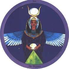 The High Priestess from Daughters of the Moon Tarot