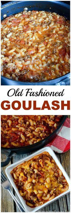 Old Fashioned Goulash! Old Fashioned Goulash! Old Fashioned Goulash! Old Fashioned Goulash! Hamburger Recipes, Ground Beef Recipes, Meat Recipes, Cooker Recipes, Crockpot Recipes, Goulash Recipes, Sirloin Recipes, Recipes Dinner, Snacks