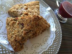 Gluten Free Power Oat Barn Scone with Flaxseed, and Fresh Fruits (strawberry or banana) Oat Bran Recipes, Flaxseed, Fresh Fruit, Scones, Banana Bread, Strawberry, Barn, Gluten Free, Desserts
