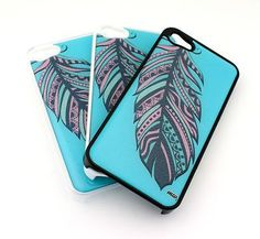 milkyway - #285 IPHONE 5 Plastic Cover Snap On Case BLUE FEATHER AZTEC dream catc