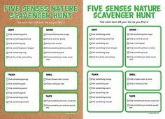 Outdoor Scavenger Hunt Printable