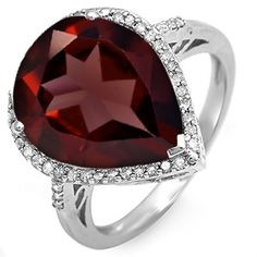 Kay - Garnet Ring Sterling Silver