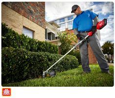 Keep your yard looking crisp and clean with this lawn trimmer. Power Ranges, Landscape Maintenance, Milwaukee Tools, Full Throttle, Buy Tools, Outdoor Power Equipment, Garden Tools, Lineup, Pantry