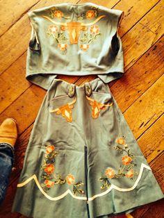 vest & split riding skirt