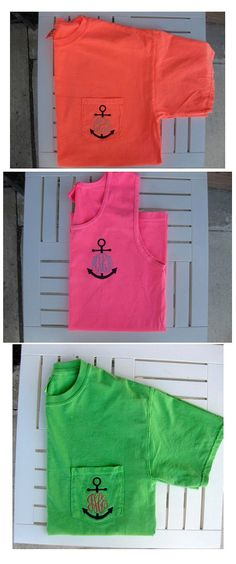 Monogrammed Comfort Colors ANCHOR Monogram Short Sleeve Tee or Tank