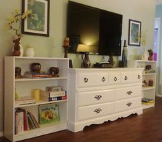 32 best diy projects for 2014 images furniture makeover painted rh pinterest com Home Built in Entertainment Center Design Media Dresser in Master Bedroom