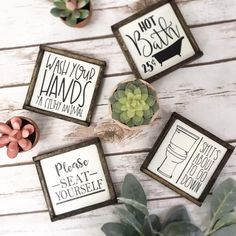 Rustic farmhouse style signs, now in two sizes! Funny bathroom signs, wash your hands, kids bathroom Rustic farmhouse style signs now in two sizes Funny bathroom image 8 Bathroom Humor, Bathroom Signs, Rustic Bathroom Decor, Rustic Decor, Rustic Signs, Rustic Farmhouse, Farmhouse Style, Shower Together, Diy Projects Cans