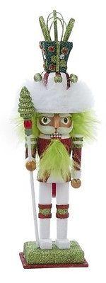 Kurt Adler 12'' Hollywood Green Hair Gift Hat Christmas Nutcracker HA0218A