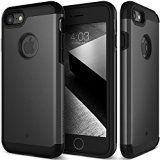 #10: iPhone 7 Case Caseology [Titan Series] Heavy Duty Protection Defense Shield [Matte Black] [Elite Armor] for Apple iPhone 7 (2016) - Shop for iPhone 6 and 6s cases (http://amzn.to/2bALgTW) unlocked iPhones (http://amzn.to/2bAKkz7) Samsung Galaxy smartphones (http://amzn.to/2bKd1Iy) accessories (http://amzn.to/2cjPALD)