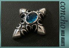 silver925/Aquamarine Zirconium/cross/concho/WILD HEARTS  http://item.rakuten.co.jp/auc-wildhearts/0572t31/