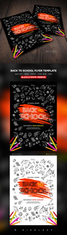 Back To School Flyer Template 2 | Flyer Printing, Print Templates