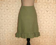 Green Skirt Corduroy Skirt Boho Skirt Casual by MagpieandOtis