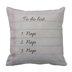 Humorous To Do Listing Throw Pillow.  Take a look at even more by going to the image