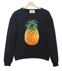 Hey, I found this really awesome Etsy listing at https://www.etsy.com/listing/190791196/pineapple-sweater-pink-black-white-top