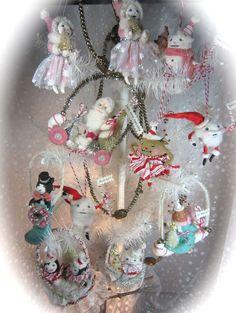 spun cotton ornaments for Christmas 2011