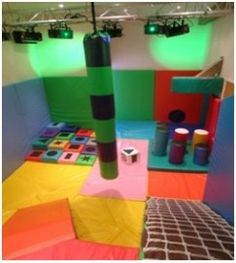 Soft playroom is another name used here for the same goals...a room for kids and adults of all abilities and needs to unwind.