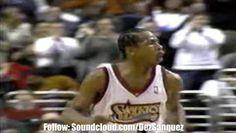 #TBT: #AllenIverson (@theOfficialAI3) & @Sixers playing #MichaelJordan & @ChicagoBulls during the 1997-98 #NBA season  More clips: 5MicClassics.Tumblr.com  #ChicagoBulls #Basketball #76ers #Sixers #5MicClassics #AirJordan