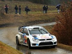 Volkswagen Polo R WRC driven by Sébastien Ogier and Julien Ingrassia to win the 2014 Monte Carlo Rally.