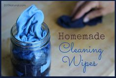 These homemade wipes are perfect for cleaning and disinfecting throughout your house. Just whip up a batch, store them under your sink, and grab when needed.
