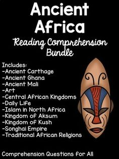 Reading Comprehension Worksheets, Comprehension Questions, West Africa, North Africa, Songhai Empire, Art Central, African Mythology, African American History, History Facts