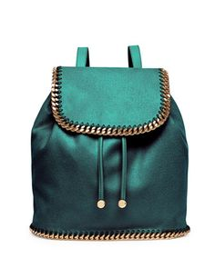 Falabella Drawstring Backpack, Forest Green by Stella McCartney at Neiman Marcus.