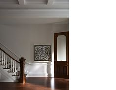 Moulding strip imitating chair rail. Delson or Sherman Architects pc - Brooklyn Heights Brownstone