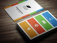 Social media individual business card fg 580386 brand design flat minimal business card flashek Gallery