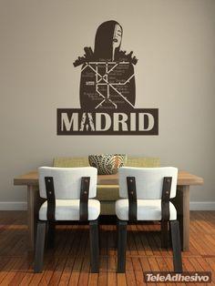 Stickers muraux Madrid